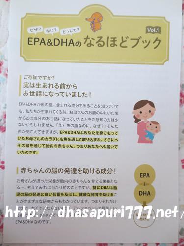 美健知箋EPA&DHAのチラシ
